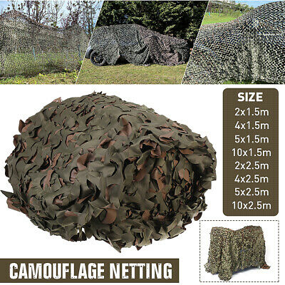 $20.97 • Buy Camouflage Netting Camo Net Woodland For Military Sunshade Camping Hunting Cover