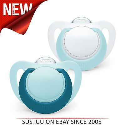 £8.60 • Buy NUK Genius Silicone Newborn Baby Soothers Soft Flexible BPA Free 2PK 6-18m Blue