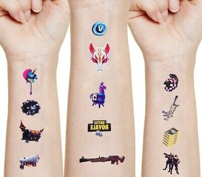 Fortnite Temporary Tattoos 26 Stickers 1sheet ~ Boys Gift Stocking Filler • 4.99£