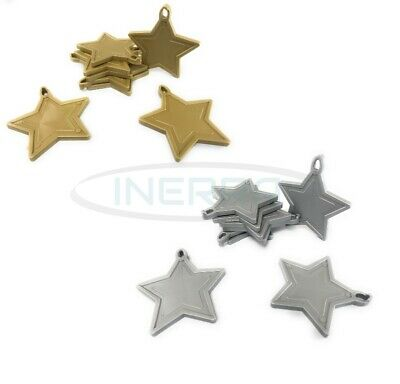 £3.99 • Buy Star Balloon Weights For Helium Balloons - Multipack - Gold & Silver