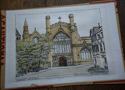 £7.95 • Buy Signed Print Of West Front, Chester Cathedral By Peter Shaw