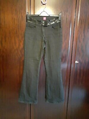 Ladies 'new Look' Sequin Embelished Black Bootcut Stretch Jeans - Size 8 • 4.50£