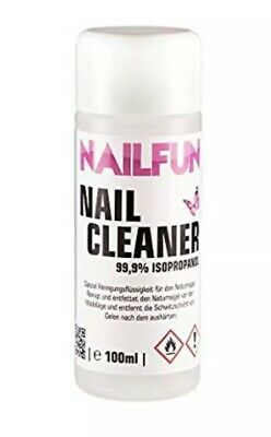 Nailfun Nail Cleanser 99.9% Isopropanol Nail Glue Remover Alcohol , Not Acetone • 9.99£
