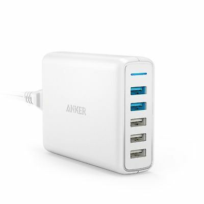 AU86.11 • Buy Anker PowerPort Speed 5 Quick Charge 3.0 5-Port USB Wall Charger White New
