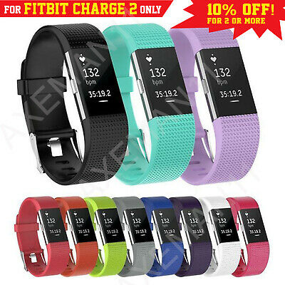 AU4.95 • Buy Fitbit Charge 2 Bands Replacement Silicone Sports Watch Strap Smart Wristband