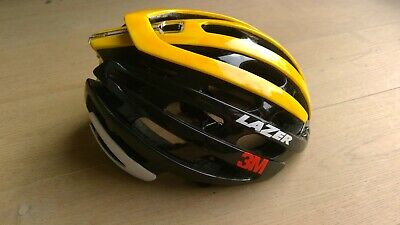 Lazer Z1 Helmet - Size M - Flanders Black/Yellow Limited Edition Team 3M • 99£