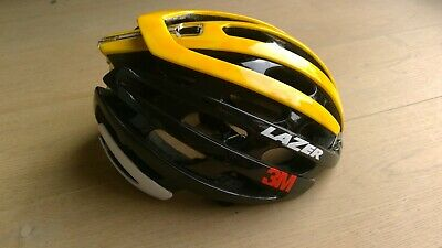 Lazer Z1 Helmet - Size Small - Flanders Black/Yellow Limited Edition Team 3M • 79£