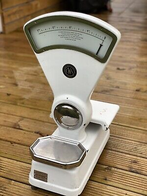 Large Vintage 1950's ENAMELED CWS Co-op Weighing Scales/Grocers/sweet Shop • 50£