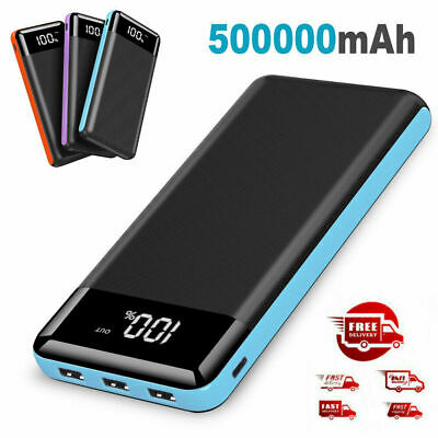 AU19.52 • Buy Portable Slim Charger 50000mAh External Battery Power Bank Pack For Moblie Phone