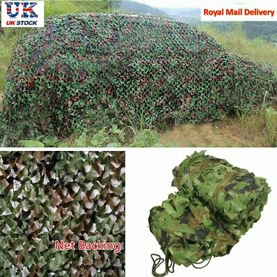 UK Camo Net Cover Camouflage Netting Hunting Shooting Camping Army Hide Colors • 8.99£