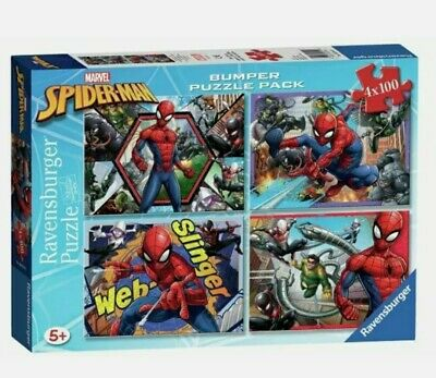 £14.99 • Buy New! Marvel Spiderman Bumper Puzzle Pack 4 X 100 Ravensburger Quality Ages 5+