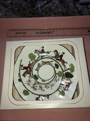 Fine Bone China Coalport Hunting Scene Candy Dish Boxed • 19.99£