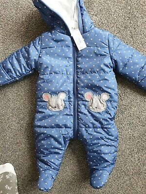 Debenhams Blue Zoo New 3-6 Months All In One Cute Mice • 9.99£