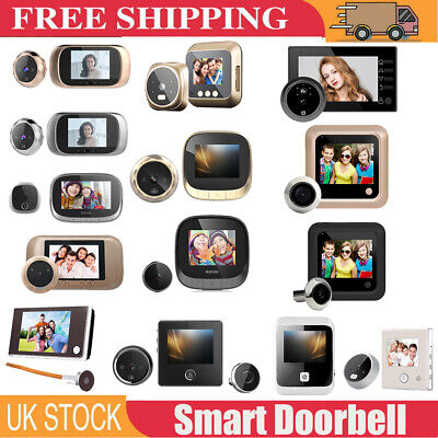 2.4 /3.5  Digital Peephole Viewer Door Eye Doorbell Video Camera Motion Detector • 19.99£