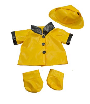 Yellow Duck Raincoat & Boots Teddy Clothes Outfit To Fit 16  Build A Bear Bears  • 9.89£