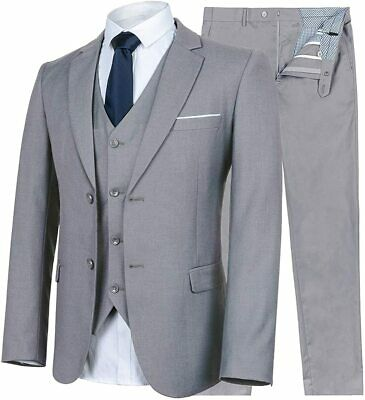 $ CDN243.69 • Buy WULFUL Men's Suit Slim Fit 3 Piece Suit Blazer Two Button Tuxedo Business Weddin