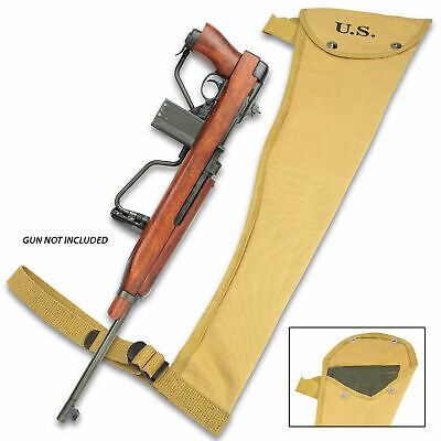 $35.99 • Buy Wwii Ww2 Us Army Usmc M1a1 Carbine Canvas Padded Jump Case Holster Pouch