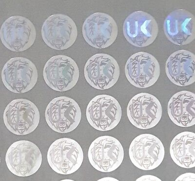 £4.29 • Buy Hologram Circle Warranty Void Tamper Proof Labels Security Seal Stickers 10mm UK
