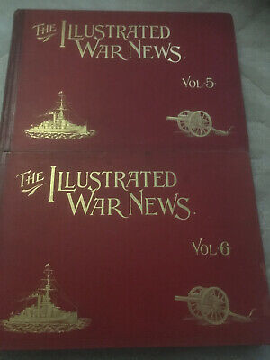 The Illustrated War News A Pictorial Record Of The Great War Vol 5-6 Parts 49-72 • 39.95£
