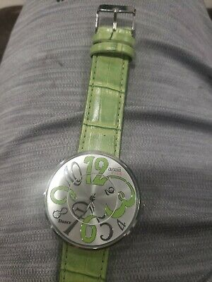 Anaii Pink 'Dance ' Green Leather Strap Ladies Fashion Watch AP706 • 9.74£