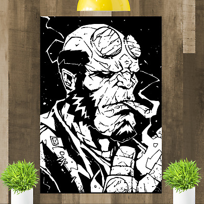 Hellboy Comic Book Hero Canvas Wall Art Print Picture Framed • 15.98£