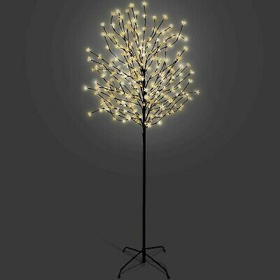 5/6/7 FT Cherry Blossom Tree Pre-Lit Outdoor Christmas LED Lights - Warm White • 44.99£