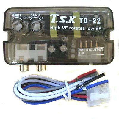 Car Speaker Line To RCA HI  LOW Adapter Line Level Output Audio Video Converter  • 7.86£