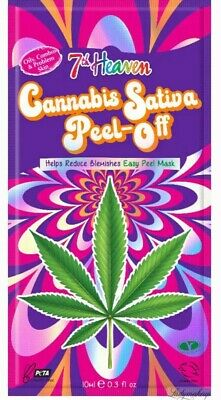 Cannabis Sativa - Peel Off Mask By 7th Heaven (Montagne Jeunesse), NEW • 2.38£