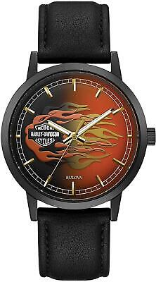 Harley Davidson 78A123 Men's Bar & Shield Flame Dial Steel Watch RRP £209.00 • 169£