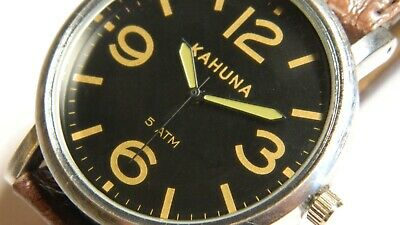 £24.99 • Buy  KAHUNA PAM Dial:45mm:Japanese Qtz:New Battery:Easy To Read:A Good Budget Homage
