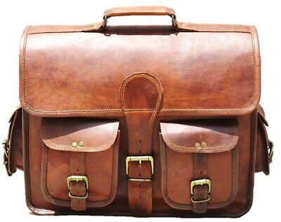 $56 • Buy New Genuine Leather Mens Vintage Laptop Messenger Cross-body Business Briefcase