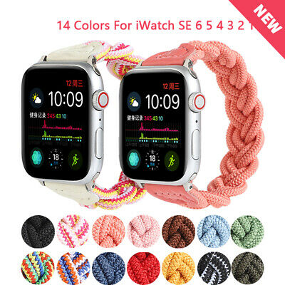 AU15.99 • Buy Braided Solo Loop Strap Elastic Band For Apple Watch IWatch SE Series 6 5 4 3 2