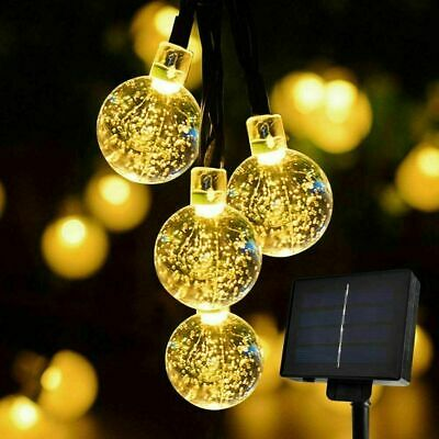 Fairy Lights Ball LED Window Curtain String Light 6.5m For Wedding Xmas Party • 9.99£