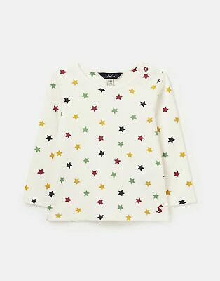 Joules Baby Boys 213388 Screen Print Top - Cream Star • 7.96£