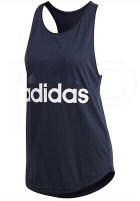 £14.99 • Buy New Adidas Tank Vest Top - Navy - Ladies Womens Gym Running Workout Fitness