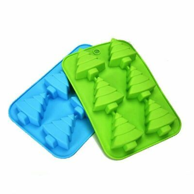 Silicone Christmas Tree Chocolate Cake Soap Jelly Ice Tray Wax Mold Baking Mould • 4.79£