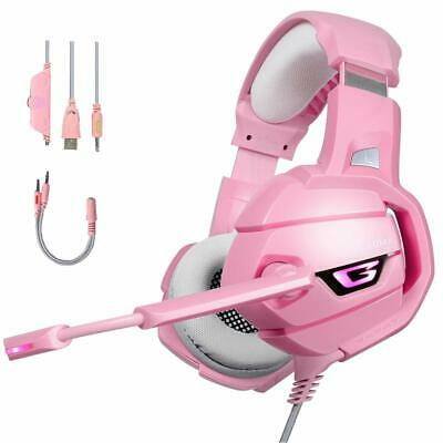 AU36.95 • Buy ONIKUMA Pink Gaming Headset Stereo Surround Mic Headphones For PS4 Xbox PC Mac