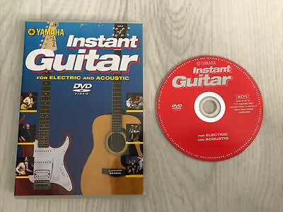 Yamaha Instant Guitar DVD Tuition Learn Electric & Acoustic Guitar  VGC • 1.95£