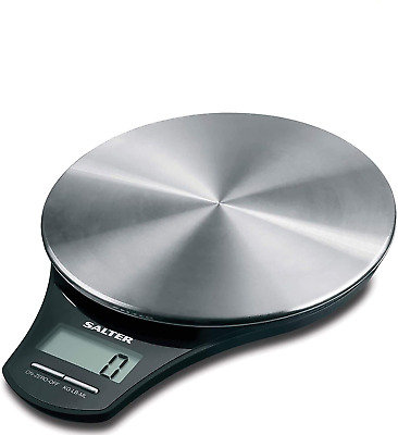 Salter Stainless Steel Digital Kitchen Weighing Scales - Electronic Cooking Scal • 30.61£