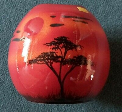 Poole Pottery African Skys Purse Vase 20cms  2nd Quality Fantastic Price • 64.99£
