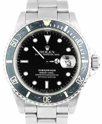 $ CDN9989.69 • Buy 1991 UNPOLISHED Rolex Submariner Date Stainless FADED BEZEL 40mm Watch 16610