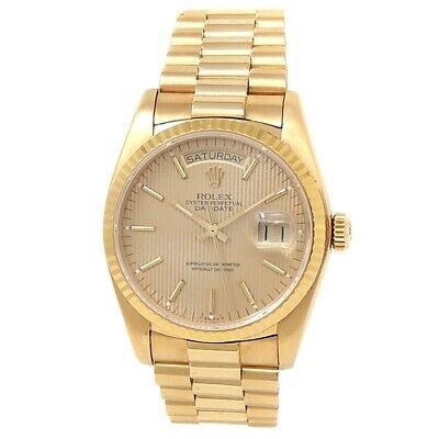 $ CDN17893.22 • Buy Rolex Day-Date 18k Yellow Gold President Automatic Champagne Men's Watch 18038