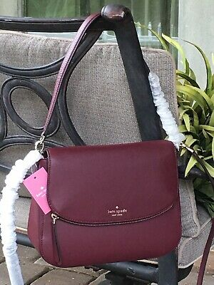 $ CDN165.17 • Buy Kate Spade Jackson Medium Flap Shoulder Bag Crossbody Cherrywood Merlot Leather