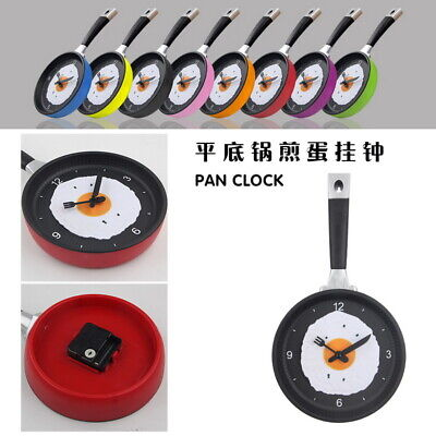 Wall Mounted Kitchen Novelty Frying Pan Egg Clock Plastic Analogue Quartz Gift • 11.89£