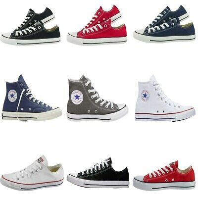 Converse Mens Womens Trainers Chuck Taylor All Star High Top Low Canvas Shoes • 29.99£