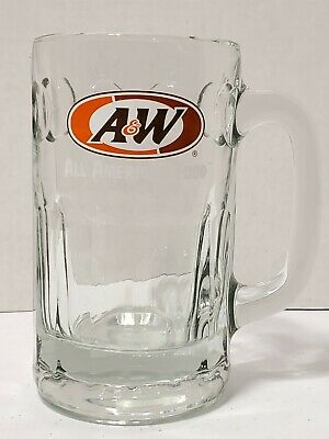 Vintage A&W All American Food Root Beer Glass Mug Heavy 6  Tall   • 9.56£