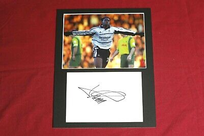 Louis Saha Fulham Genuine Hand Signed 10x8 Photo Display • 20£