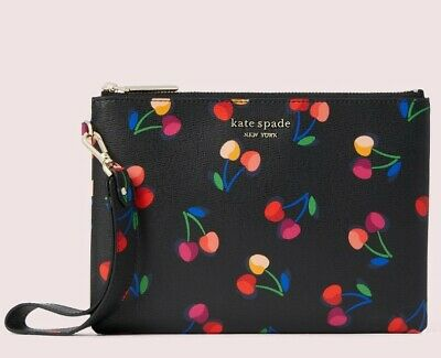 $ CDN78.39 • Buy NWT-Kate Spade-Spencer Cherries Small Wristlet Pouch-$88