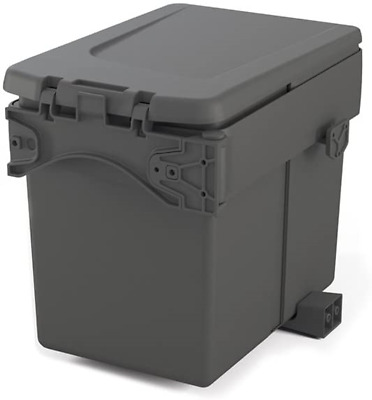 Emuca 8935423 Built-in Waste Bin For Cabinet With Automatic Lid, Anthracite 15 • 22.54£