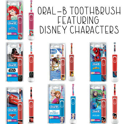 AU45.53 • Buy Braun Oral-B Kids Electric Rechargeable Toothbrush Featuring Disney Characters